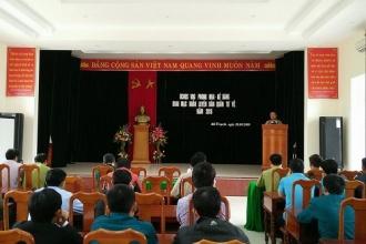 Ban quản lý Vườn Quốc gia Phong Nha - Kẻ Bàng: Ra quân huấn luyện Dân quân tự vệ năm 2018